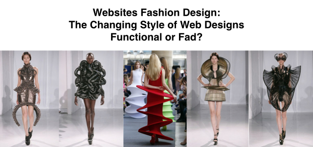 Website Fashion Design The Changing Style Of Web Designs