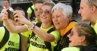 Selfie with UI President Sally Mason